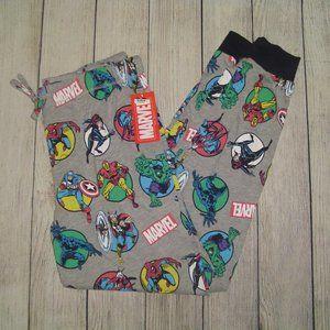 Men's Marvel Pajama Pants - Light Gray L
